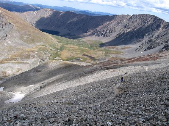Valley you come up for Grays Peak and Torreys Peak