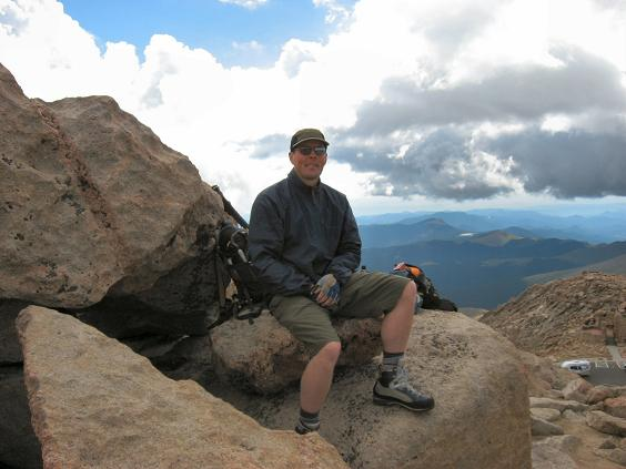 Allan on the summit of Mt Evans