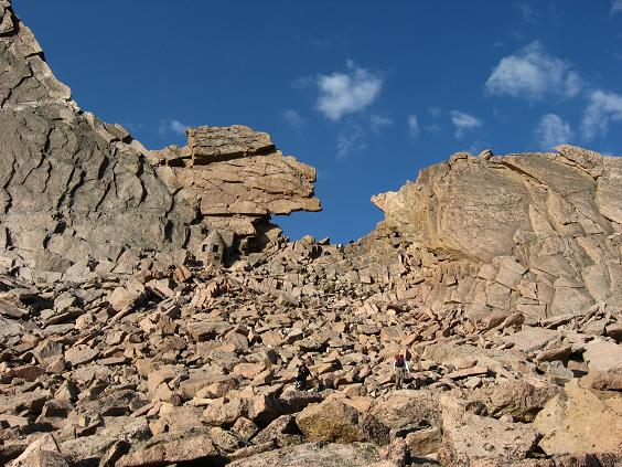 The easy part is almost over - Longs Peak keyhole