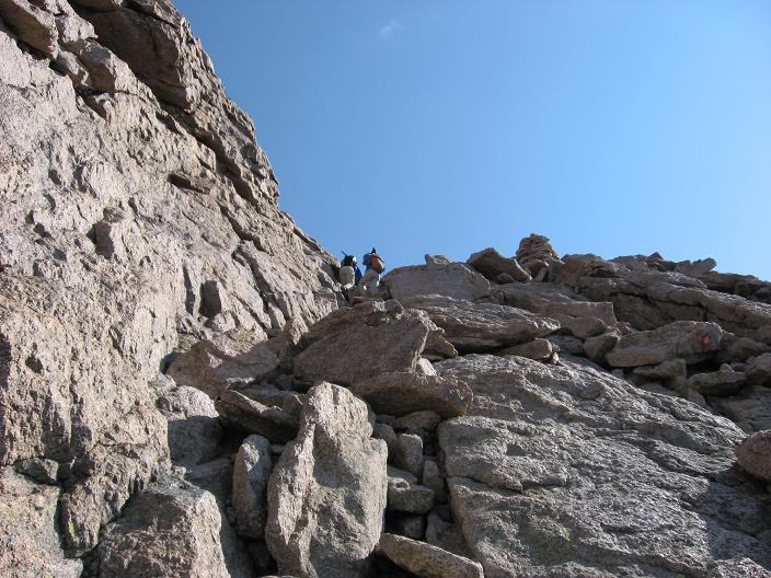 Yes, the summit is right before me, last part of the Home Stretch - Longs Peak