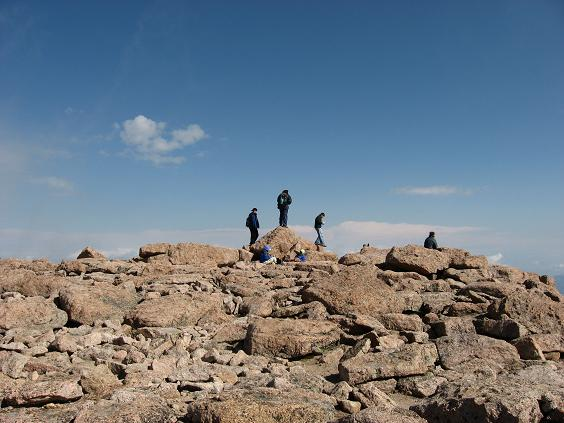 The Summit awards ceremony, pat yourself on the back - Longs Peak