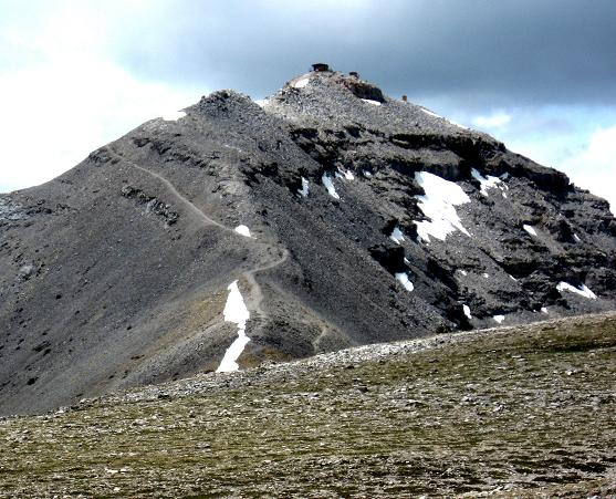 Cool view of the summit block - Moose Mountain