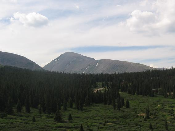 Quandary Peak from Hossier Pass area