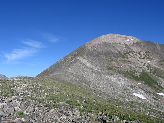 Upper route photo, still a long ways to go - Quandary Peak