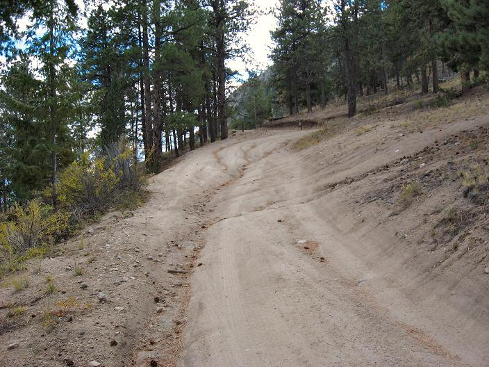 Water cuts and berms here we come - Mt Princeton